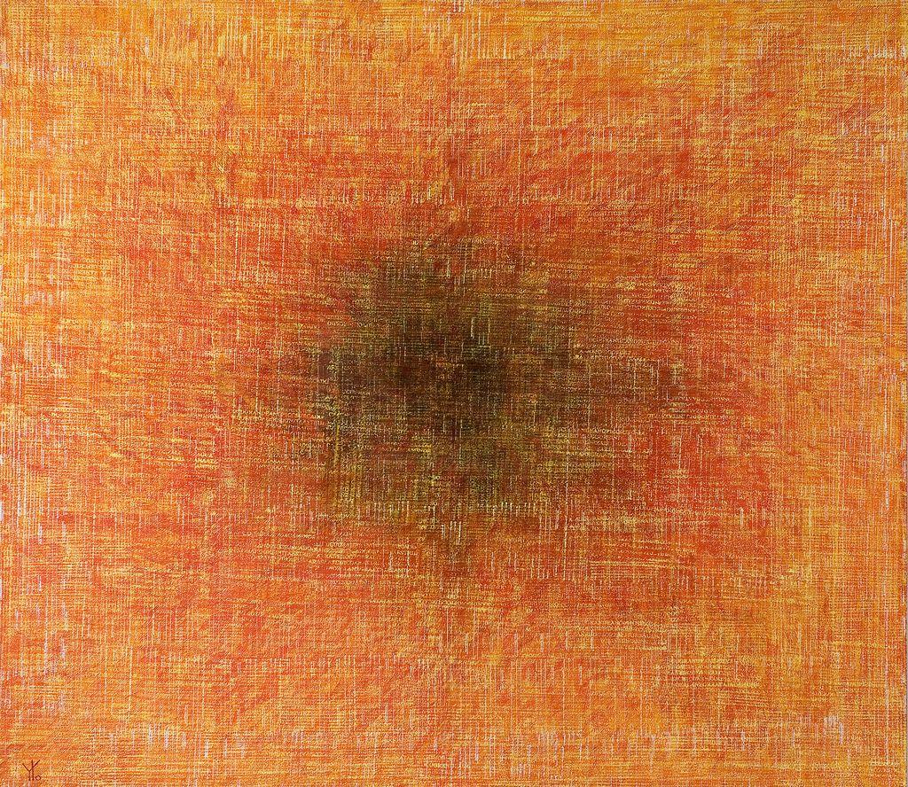 yellow bytes' explosion · acrílico sobre tela· 140 x 160 cm · 2007