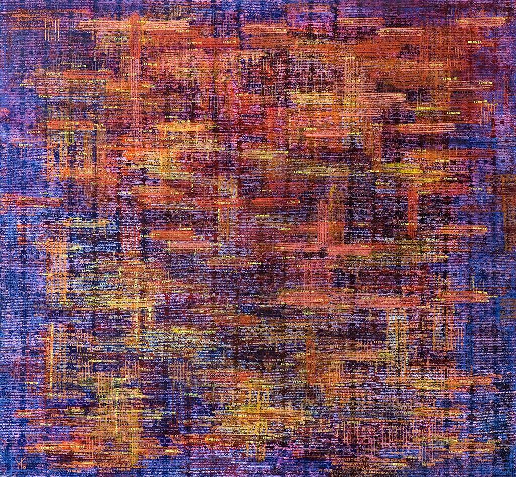 atardecer siglo XXI · acrílico sobre tela· 120 x 130 cm · 2007