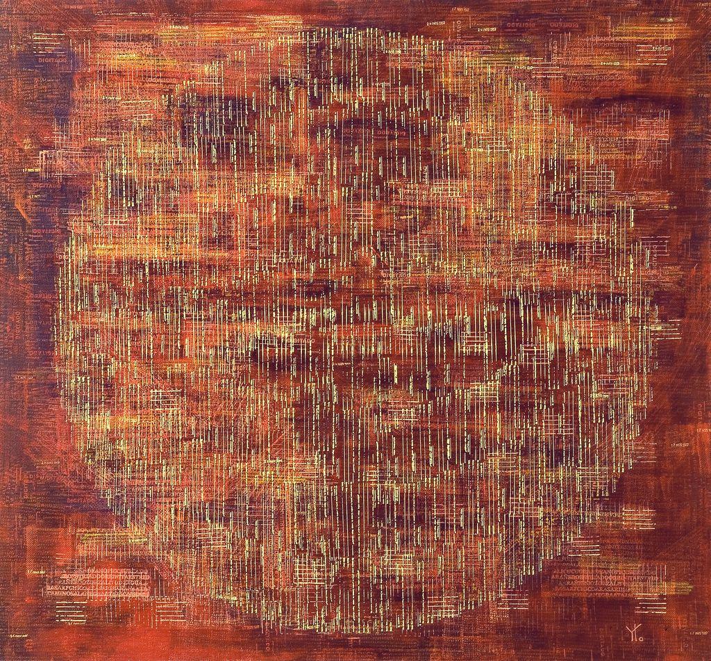 huella digital · acrílico sobre tela· 120 x 130 cm · 2007