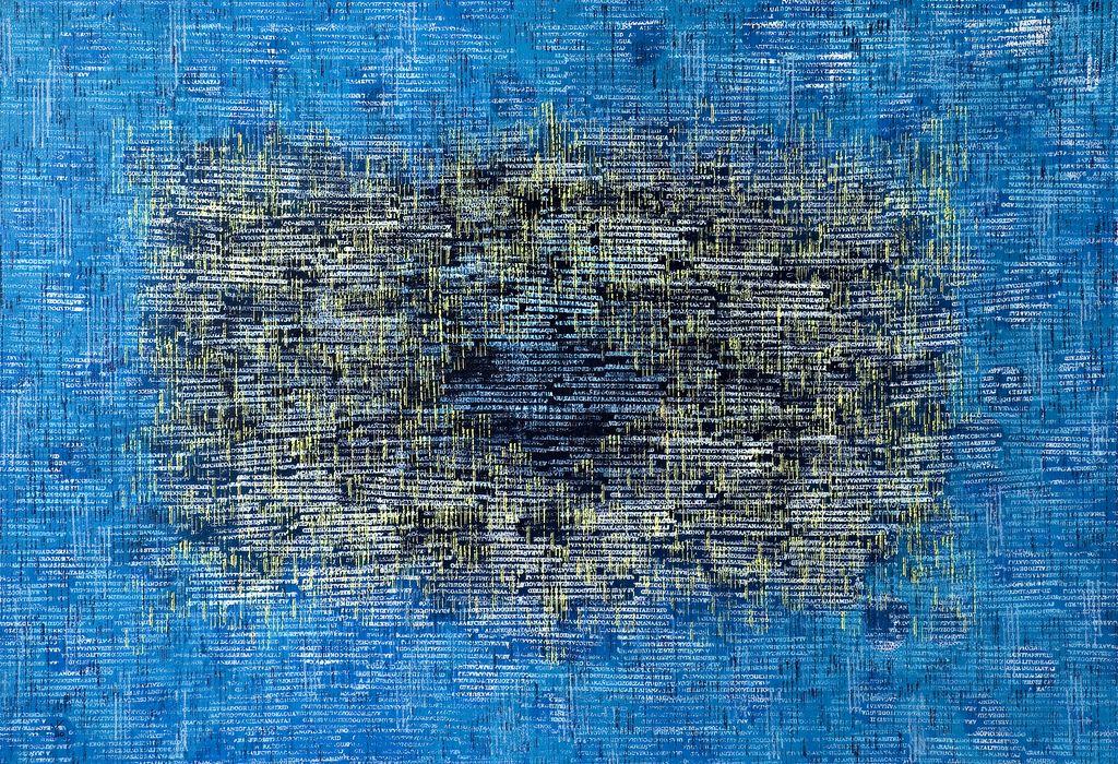 nube de tags · acrílico sobre tela· 140 x 200 cm · 2007
