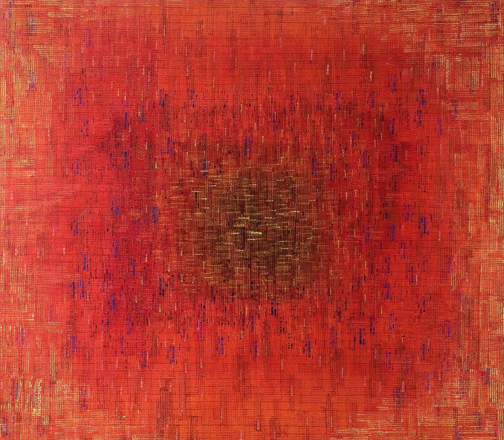 fuego eterno · acrílico sobre tela· 140 x 160 cm · 2007