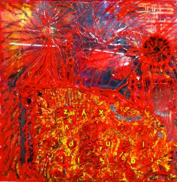 """""""Divina_mente"""" e-pintura demencial 30 x 30 cm. Pintura Electrónica Interactiva 2010"""