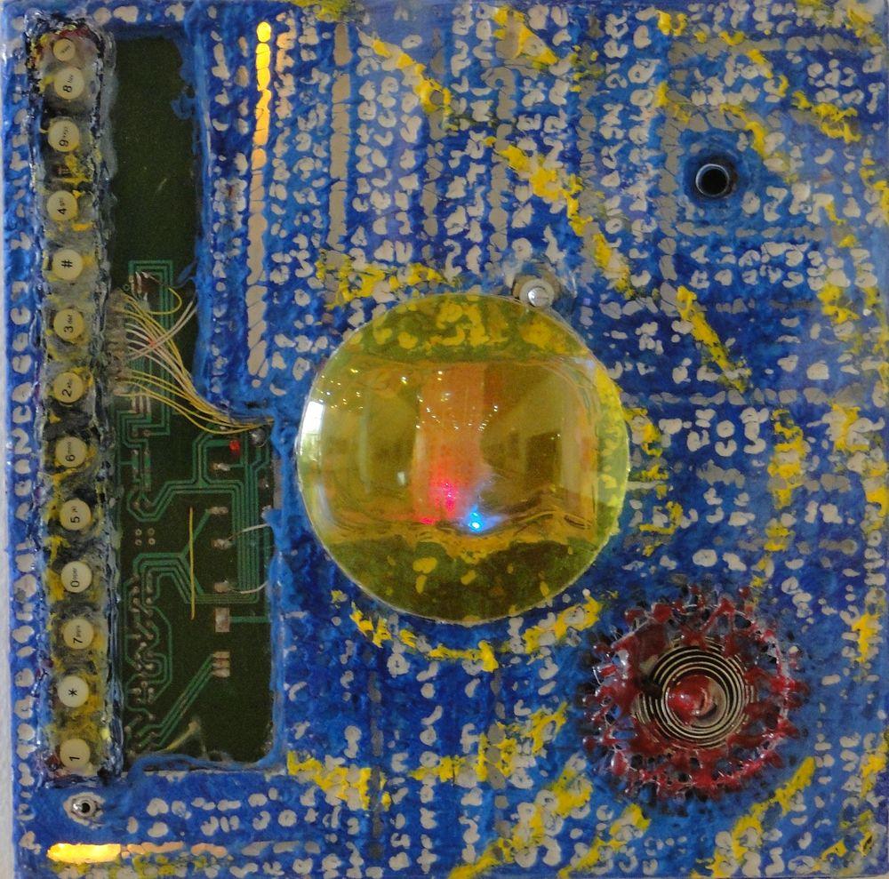 """""""Dementestridente"""" e-pintura demencial 30 x 30 cm. Pintura Electrónica Interactiva 2010"""