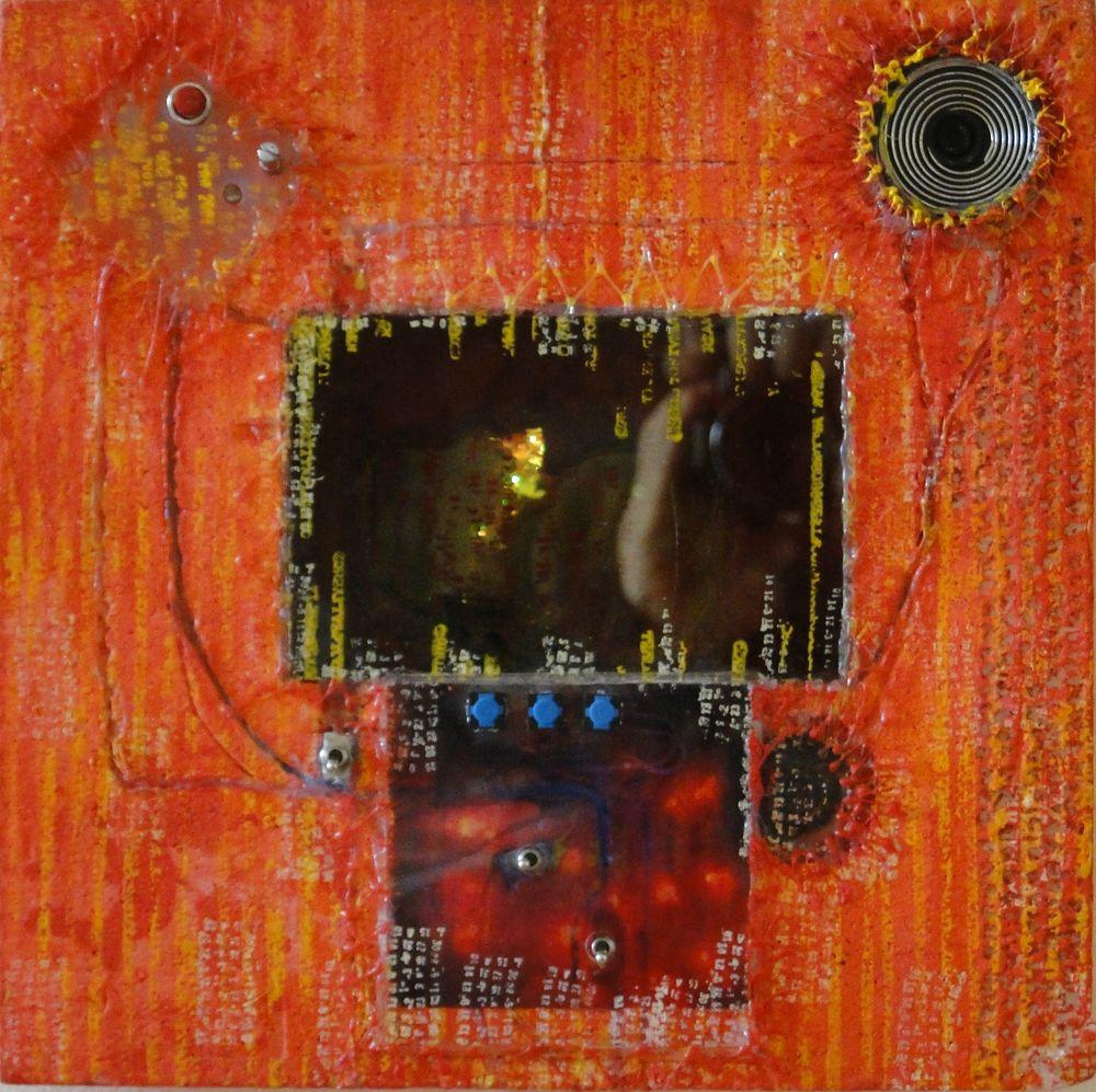 """""""Infinita demencia"""" e-pintura demencial 30 x 30 cm. Pintura Electrónica Interactiva 2009"""